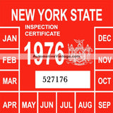 Vintage 1976 New York Windshield Inspection Sticker