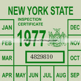 Vintage 1977 New York Windshield Inspection Sticker