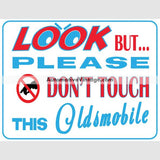 Oldsmobile Look But Dont Touch Car Show Magnets (Pair)