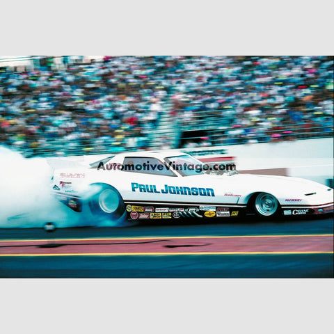 Paul Johnson Pontiac Firebird Funny Car Full Color Drag Racing Photo 8.5 X 11