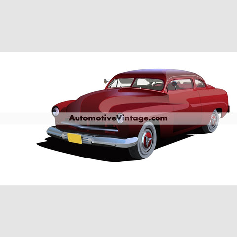 American Graffiti The Pharoahs Chopped Merc Indoor Car Wall Sticker 12 Wide / Matte Finish