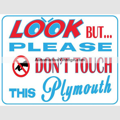 Plymouth Look But Dont Touch Car Show Magnets (Pair)