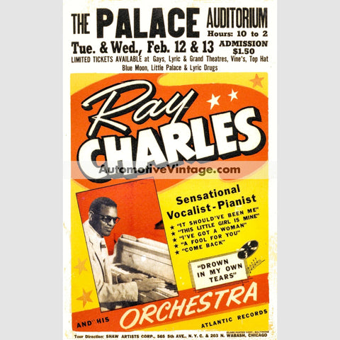 Ray Charles Nostalgic Music 13 X 19 Concert Poster Wide High