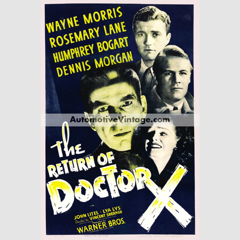 The Return Of Doctor X (1939) - Nostalgic Full Color Premium Movie Poster 18 Wide × 24 High