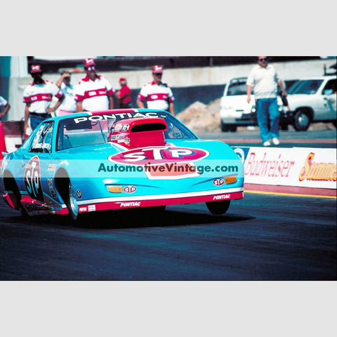 Ricki Smith Stp Pontiac Firebird Pro Stock Full Color Drag Racing Photo 8.5 X 11