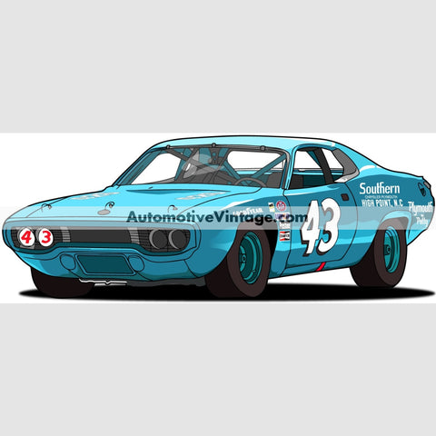 Richard Petty Road Runner Indoor Car Wall Sticker 12 Wide / Matte Finish