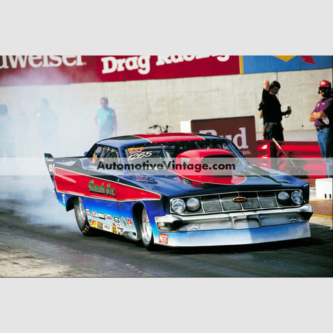 Ronnie Sox Mercury Comet Pro Modified Full Color Drag Racing Photo 8.5 X 11