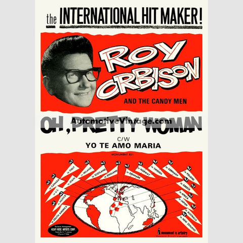 Roy Orbison Nostalgic Music 13 X 19 Concert Poster Wide High