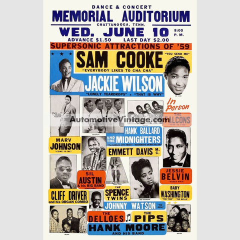 Sam Cooke Nostalgic Music 13 X 19 Concert Poster Wide High