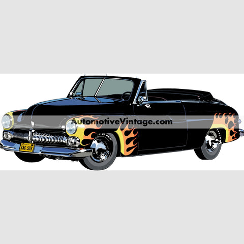 The Scorpions 1949 Mercury Indoor Car Wall Sticker 12 Wide / Matte Finish