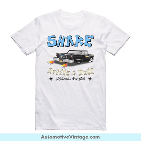 Shake Rattle And Roll 1957 Ford Short-Sleeve Classic Car T-Shirt S / Front Of Shirt
