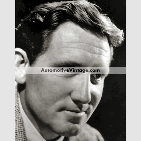 Spencer Tracy Glossy Black & White Vintage Movie Star Photo 8.5 X 11