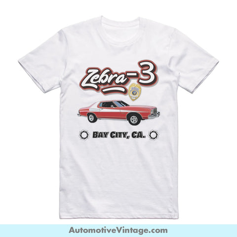 Starsky And Hutch Short Sleeve Television T-Shirt White / S Front Of Shirt T-Shirt