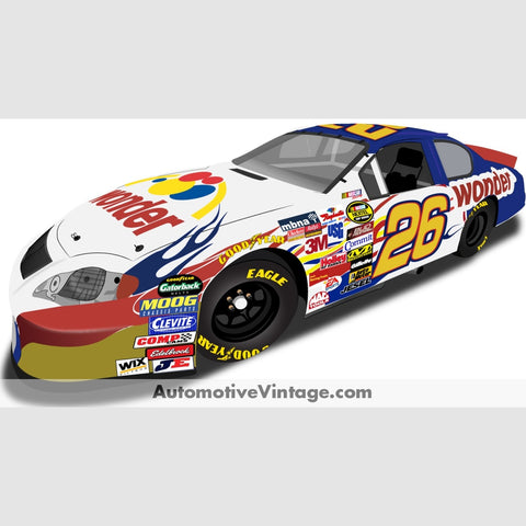Talladega Nights Wonder Bread Nascar Indoor Car Wall Sticker 12 Wide / Matte Finish