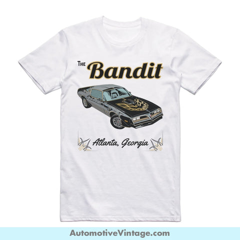 Smokey And The Bandit Trans Am Short Sleeve Movie T-Shirt White / S Front Of Shirt T-Shirt