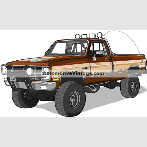 The Fall Guy Gmc Sierra Indoor Car Wall Sticker 12 Wide / Matte Finish