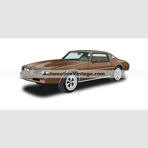 The Rockford Files Pontiac Firebird Indoor Car Wall Sticker 12 Wide / Matte Finish