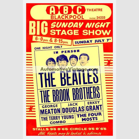 The Beatles Nostalgic Music 13 X 19 Concert Poster Wide High
