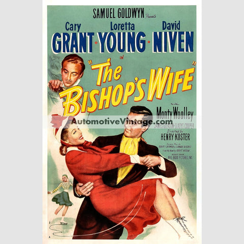 The Bishops Wife (1947) - Nostalgic Full Color Premium Movie Poster 18 Wide X 24 High