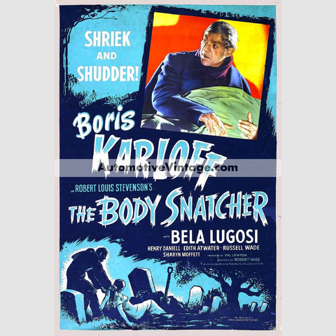 The Body Snatcher (1945) - Nostalgic Full Color Premium Movie Poster 18 Wide X 24 High
