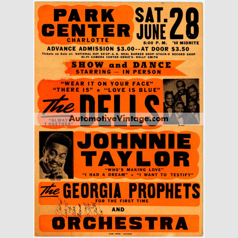 The Dells Nostalgic Music 13 X 19 Concert Poster Wide High