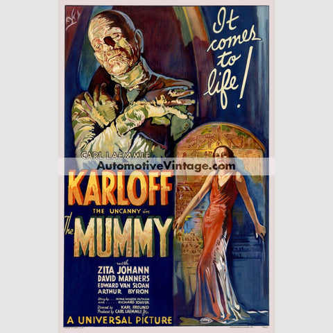 The Mummy (1932) - Nostalgic Full Color Premium Movie Poster 18 Wide × 24 High