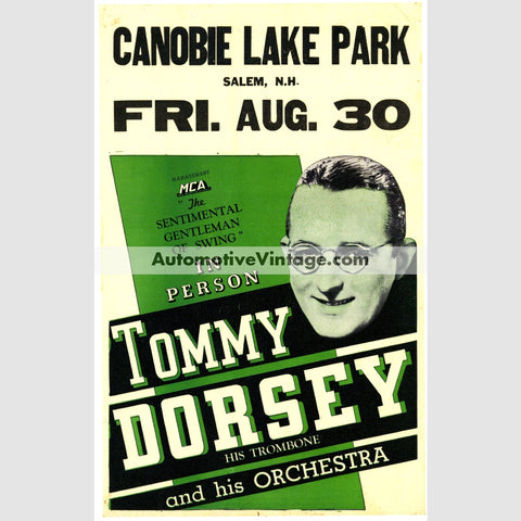 Tommy Dorsey Nostalgic Music 13 X 19 Concert Poster Wide High