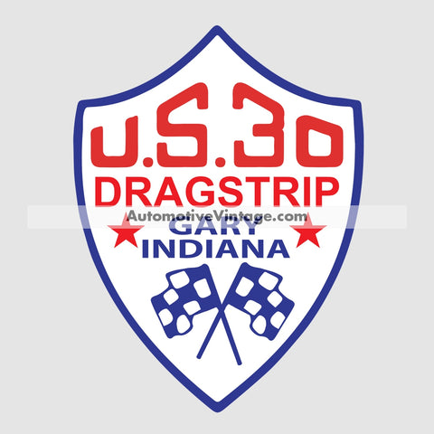 U.s. 30 Indiana Drag Strip Racing Car Sticker Stickers