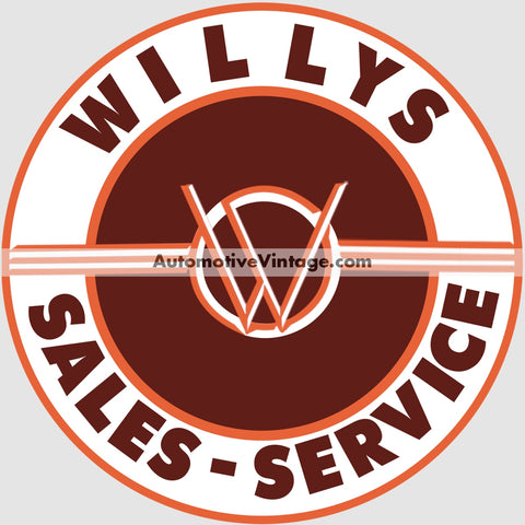 Willys Sales And Service Auto Parts Car Sticker Stickers