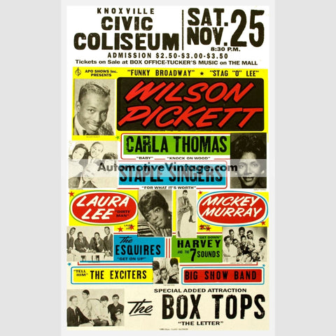 Wilson Pickett Nostalgic Music 13 X 19 Concert Poster Wide High