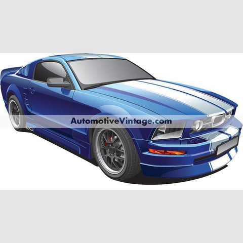 Ford Mustang Muscle Car Indoor Wall Sticker 12 Wide / Matte Finish
