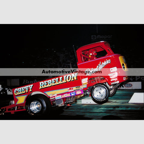 Chevy Rebellion Wheel Stand High Resolution Full Color Premium Drag Racing Poster 24 Wide X 18