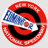 National Speedway Eliminator New York Drag Strip Car Sticker Stickers