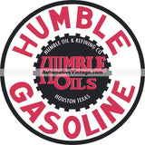 Humble Gasoline Nostalgic Metal Sign