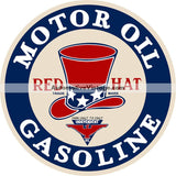 Red Hat Gasoline Nostalgic Metal Sign