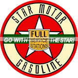Star Motor Gasoline Nostalgic Metal Sign