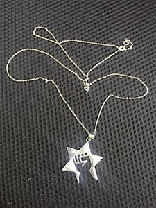 JDL Large Sterling silver Necklace with a 24'' sterling silver chain