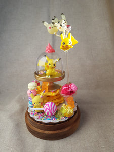 Pokemon habitat terrarium- pikachu- size M - Geek And Artsy