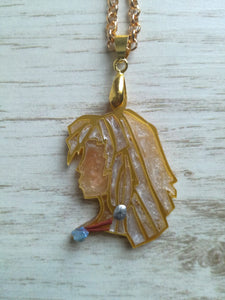Kida- Disney princess cameo stained glass necklace - Geek And Artsy
