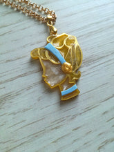Cinderella- Disney princess cameo stained glass necklace - Geek And Artsy