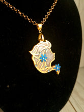 Elsa- Disney princess cameo stained glass necklace - Geek And Artsy