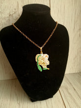 Anna- Disney princess cameo stained glass necklace - Geek And Artsy