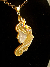 Aurora- Disney princess cameo stained glass necklace - Geek And Artsy