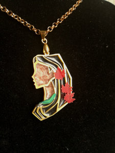 Pocahontas- Disney princess cameo stained glass necklace - Geek And Artsy