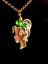 Tiana- Disney princess cameo stained glass necklace - Geek And Artsy