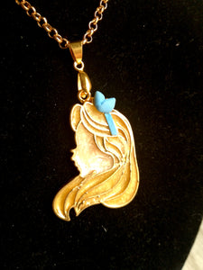 Alice- Disney princess cameo stained glass necklace - Geek And Artsy