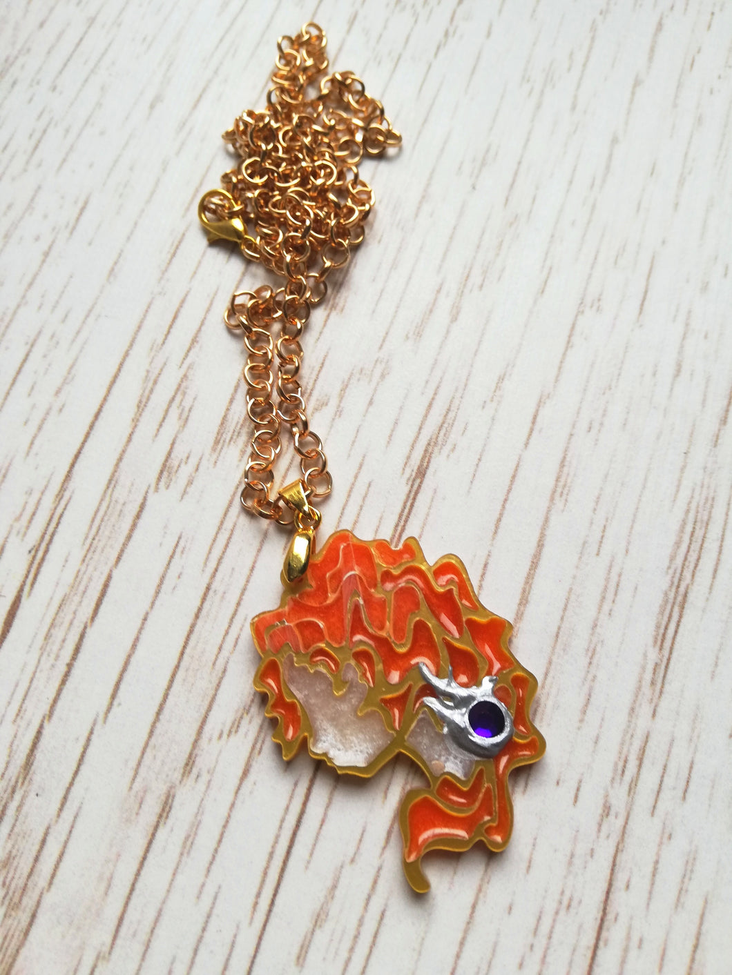 Merida- Disney princess cameo stained glass necklace - Geek And Artsy