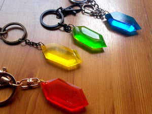 Legend of Zelda Rupee keychain charm - Geek And Artsy