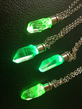 Kryptonite superman crystal pendant with light DC inspired - Geek And Artsy