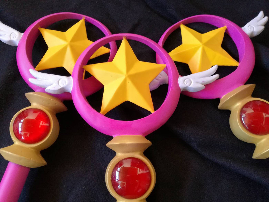 Cardcaptor sakura star wand, card captor sakura cosplay wand - Geek And Artsy